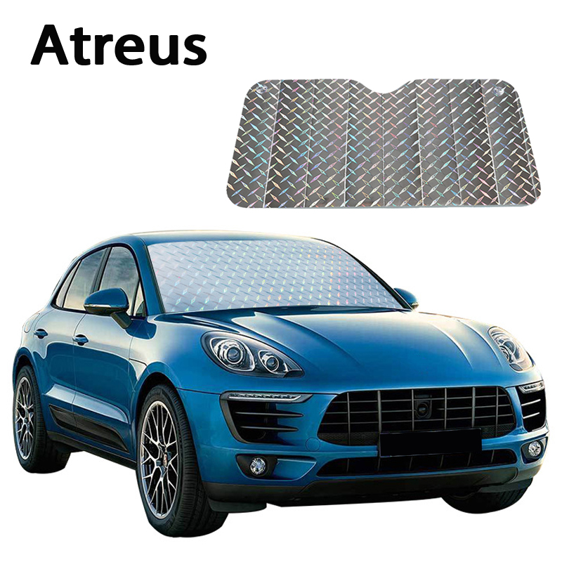 Atreus Car Windshield Visor Cover Sun Shade Visor Car-covers for Chevrolet cruze BMW e46 e39 e36 e90 e60 Nissan qashqai styling auto rain shield window visor car window deflector sun visor covers stickers fit for toyota noah voxy 2014 pc 4pcs set