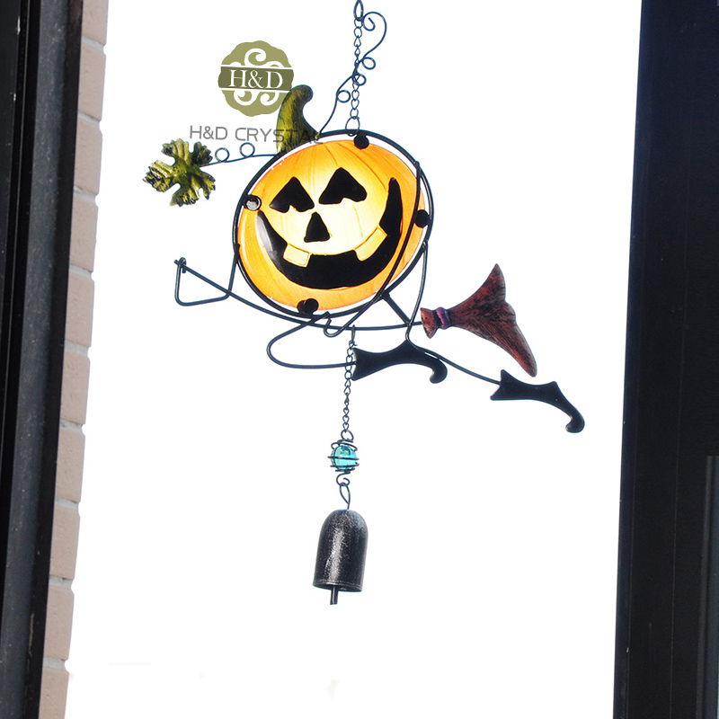 aliexpresscom buy pumpkin enchanter halloween metal one bell gift crafts suncatcher wind chimes hanging home decoration from reliable decorative craft