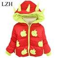 Lzh niñas apple chaqueta de invierno abrigo de otoño del bebé cabritos de la chaqueta cálida chaqueta con capucha de algodón gruesa ropa de abrigo muchachos de la capa ropa de los niños