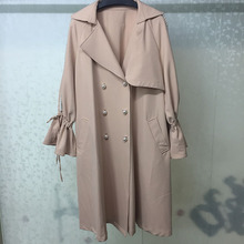 Women Long Coats High Quality Ladies Trench Coat Elegant 2019 Spring Double Breasted Overcoat the new 2017 children trench coats girls double breasted trench coat of spring long coat lapels kids