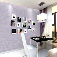 Modern Solid Color Wallpaper For Bedroom Wall Embossed Textured Wall Paper Home Decor 10M Roll Plain Yellow Blue Purple Pink plain modern brown beige grasscloth wallpaper wrinkled vinyl textured straw wall paper roll for hotel