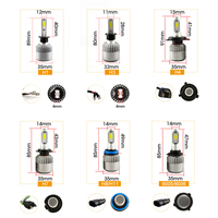 AKD CAR SYTYLING LED HEADLIGHT BULB 8000 lm H7 H8 D2H AUTOMOTIVE ACCESSORIES