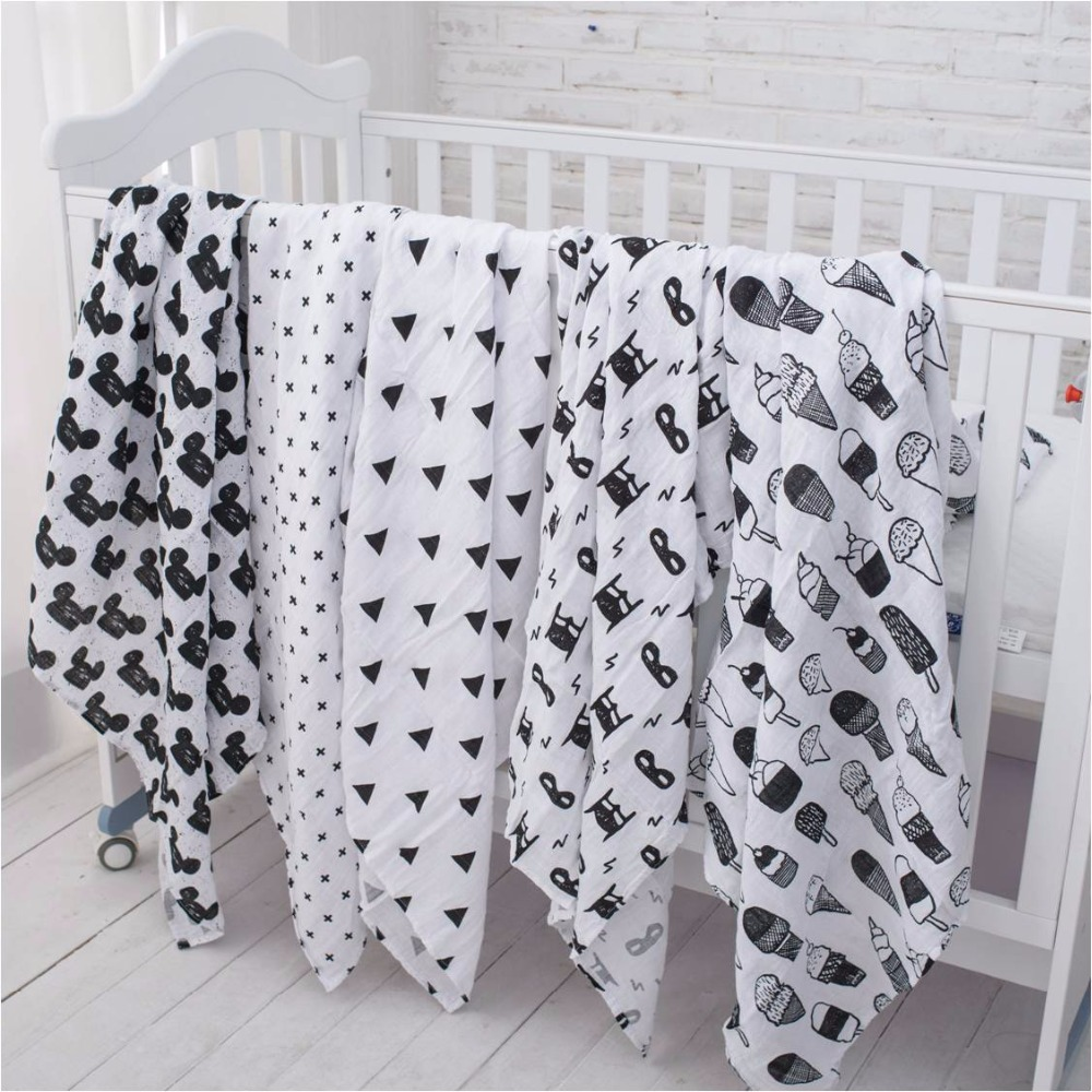цена Muslinlife 100% Organic Cotton Muslin Swaddle Blanket,Heart/Cross/Fox/Milk Bottle blanket,Infant Newborn Baby Wrap 47*47