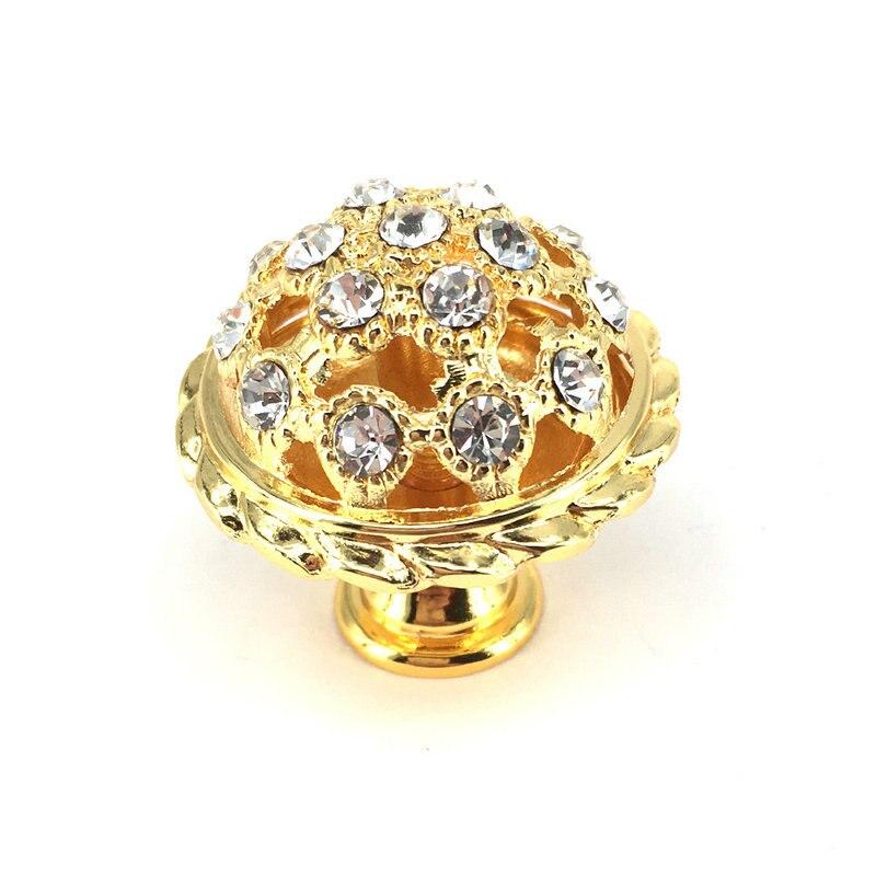 35mm Glass Crystal Knobs Gold Dresser Knob Drawer Handles Mushroom shape Cabinet Knobs Furniture Hardware css clear crystal glass cabinet drawer door knobs handles 30mm