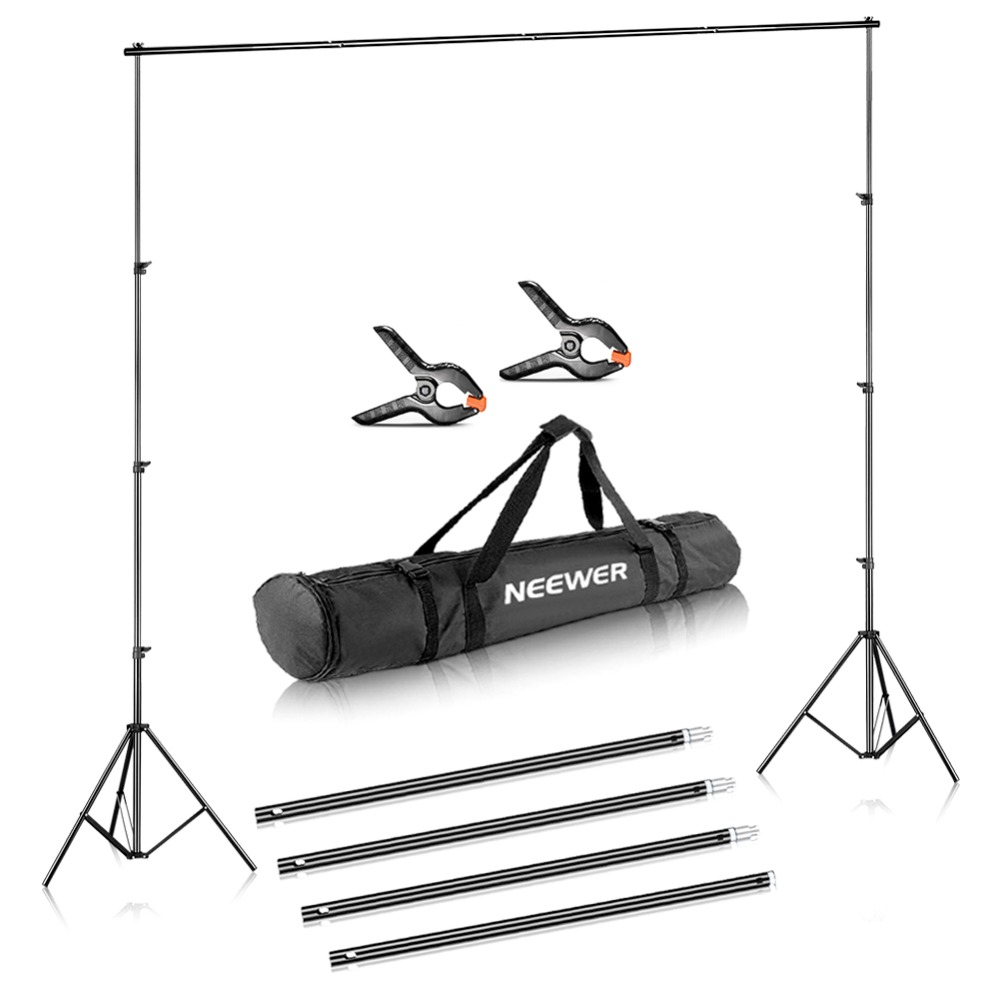 Neewer Photo Video Studio Adjustable Background Stand Backdrop Support System 10x12 Feet/3x3.6 Meters And Carrying Bag