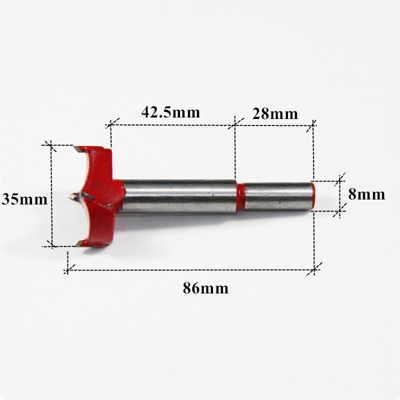 5 pezzi 20-40mm TCT Forstner Set di punte per trapano Foro in legno - Punta da trapano - Fotografia 5