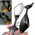 Carbon LED Intergrated Turn Signal Mirror For Yamaha FZR 400 600 600R YZF R1 R6