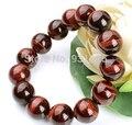 2pcs lots Beautiful Fashion 10mm Red Tiger's Eye Beads Stretch Link Bracelet Fashion Jewellery Free shipping