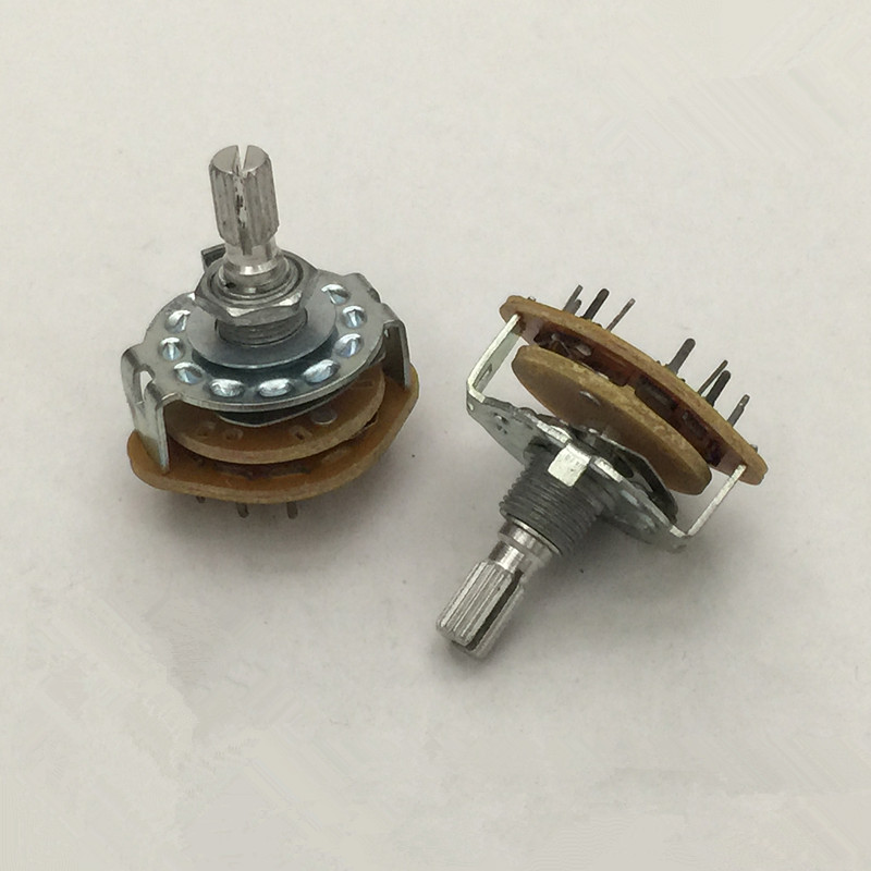 все цены на 1P12T 3P4T 1P8T 2P5T 2P6T 4P3T 6mm Knurled Shaft Dia Band Selector Rotary Switch