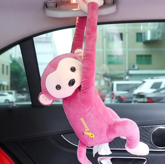 2019 Creative Tissue Box Pippi Monkey Napkin Box Cute Cartoon Animals Car Paper Napkin Box Holder # 10
