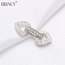 DIY Jewelry Accessories pearl Necklace Bracelet Button love Zircon Multilayer Button long Pearl Necklace Buckle цена в Москве и Питере