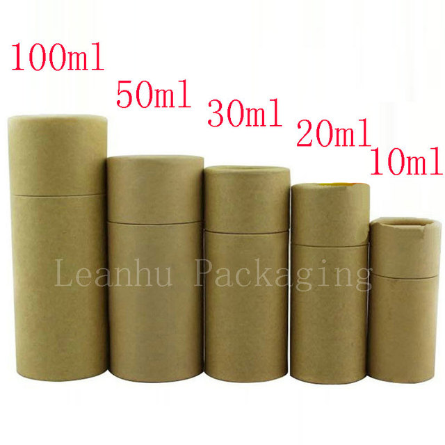 Glass dropper bottle packaging box kraft paper packaging tube glass dropper bottle packaging box kraft paper packaging tube round small cardboard boxes recyclable brown gift negle Gallery