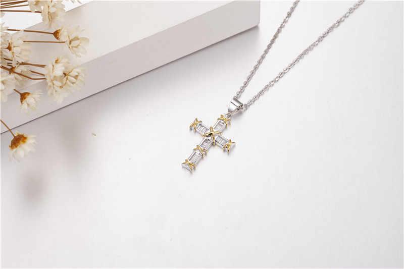 Handmade คริสเตียน Cross จี้ sona เพชรแท้ 925 เงินจี้สร้อยคอผู้หญิงเครื่องประดับของขวัญ