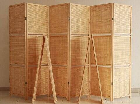 Bamb tejido de alto grado de protecci n ambiental biombo - Biombos de madera ...