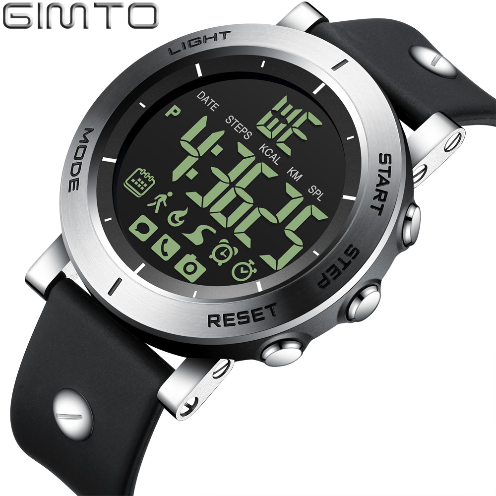 цены на GIMTO New Sport Smart Watch Men Waterproof Shock Stopwatch Military Male Clock LED Digital Watches Pedometer Calories Smartwatch
