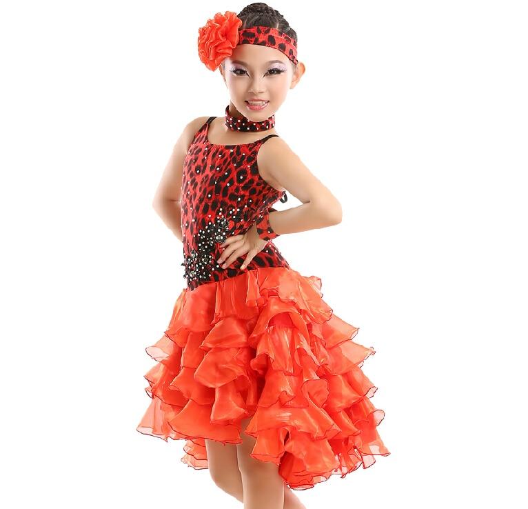 8d1d4de93 Latin Dance Dress Children Hand sewing Stone Girls Dance Dress Kids ...