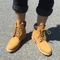 2017 Del Otoño Del Resorte Hombres de la Marca de Cuero Genuino Botas Botas de Agua Botas de Moda Martin Botas Zapatos Al Aire Libre Para Caminar Casuales