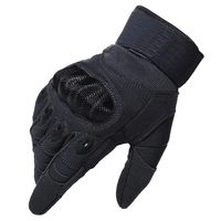 Tactical Military Hard Knuckle Gloves Full Finger for Army Gear Sport Shooting Paintball Hunting Riding Motorcycle Black Glove