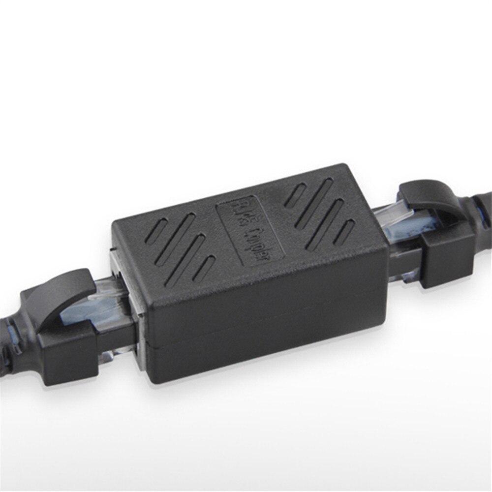 цена на RJ45 Network Internet LAN Connector Adapter Extender Injector For LAN Network Mini Dual RJ45 Interfaces Adapter