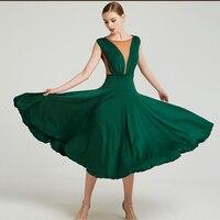 f2a40addb5c0fb Ballroom Dance Dress Women Elegant Sleeveless Ballroom Waltz Dresses  Spanish Flamenco Practice Performance Wear Ladies DN3270