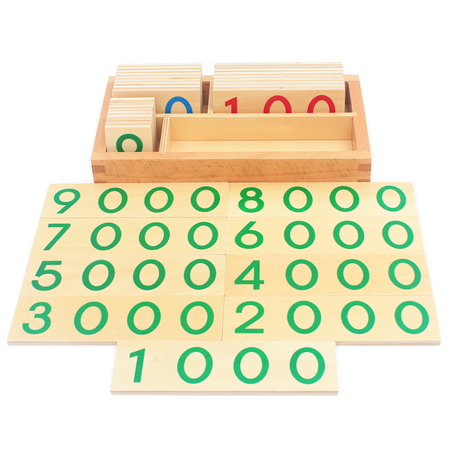 Wooden Number Cards