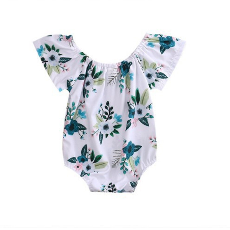 2017 Sleeveless Jumpsuit Baby Rompers Tiny Cottons Newborn Boys Romper Girls Clothes floral Print Summer Clothing