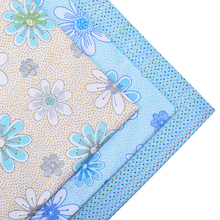 Print Twill Cotton Fabric Patchwork For Sewing Quilting Fat Quarter Bundle Fabric Tissue Tilda Of Handmade Material 3pcs 40*50cm(China)