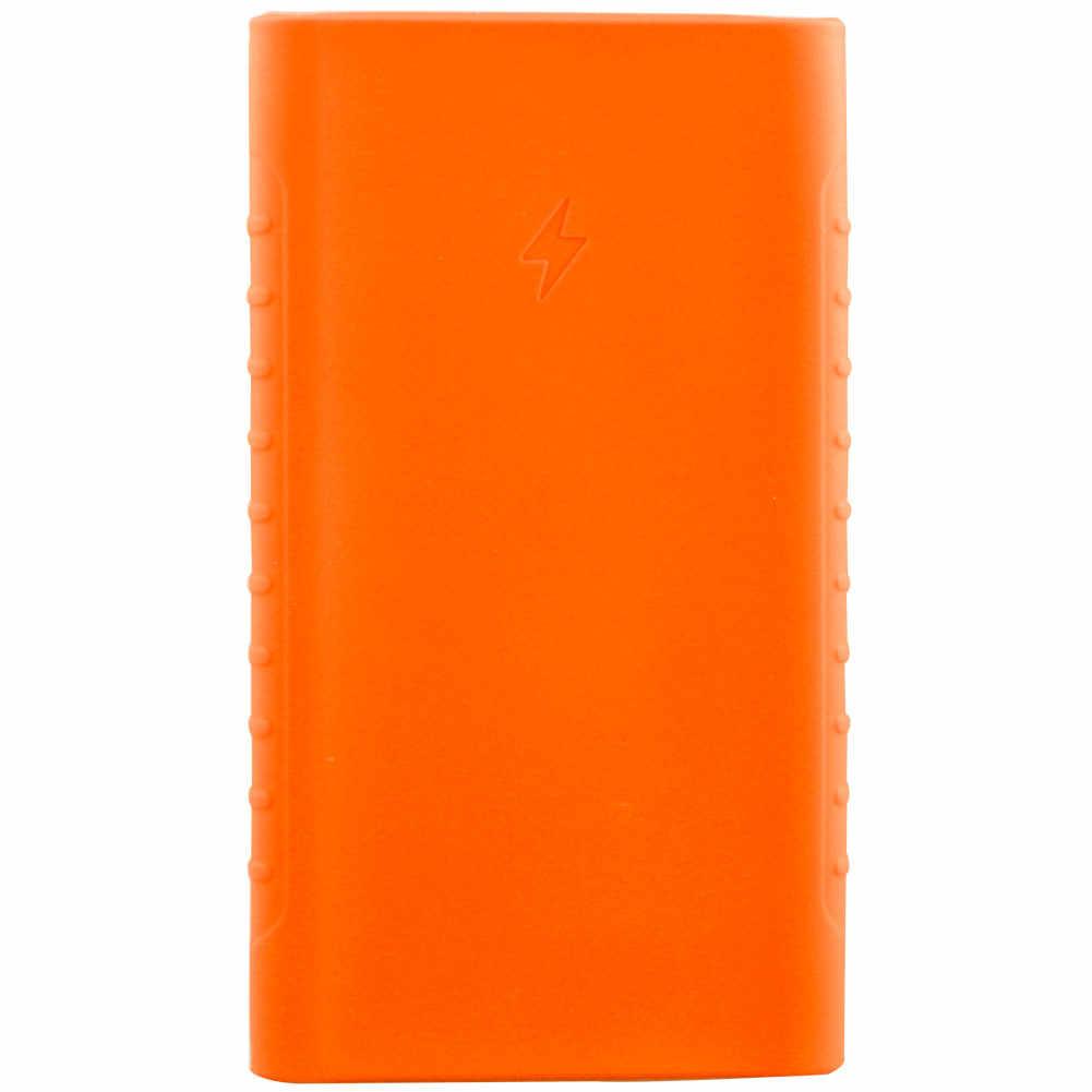 Cubierta de goma de la caja del Banco de energía del silicio para el paquete de la batería externa portátil para la caja del Banco de energía Xiaomi para 10000 mAh