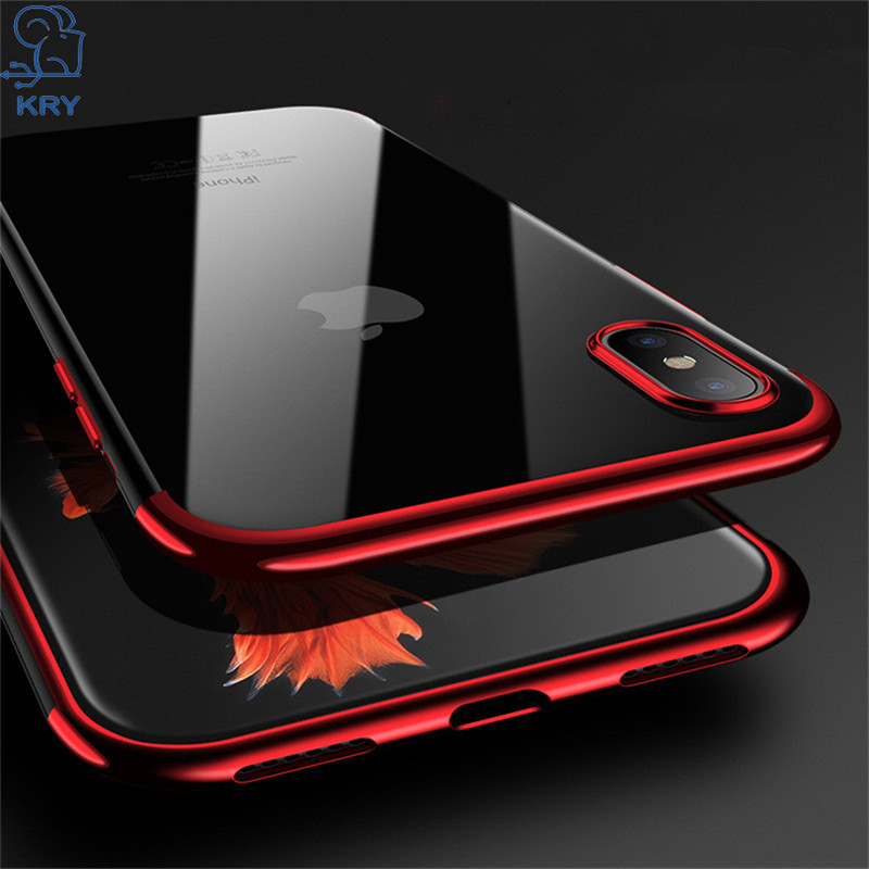 KRY Thin Soft Silicon Phone Cases For iPhone 7 Case 7 8 Plus Cover For iPhone 6 Case 6s 5 5s SE 7 8 Plus X Cases TPU Coque Capa