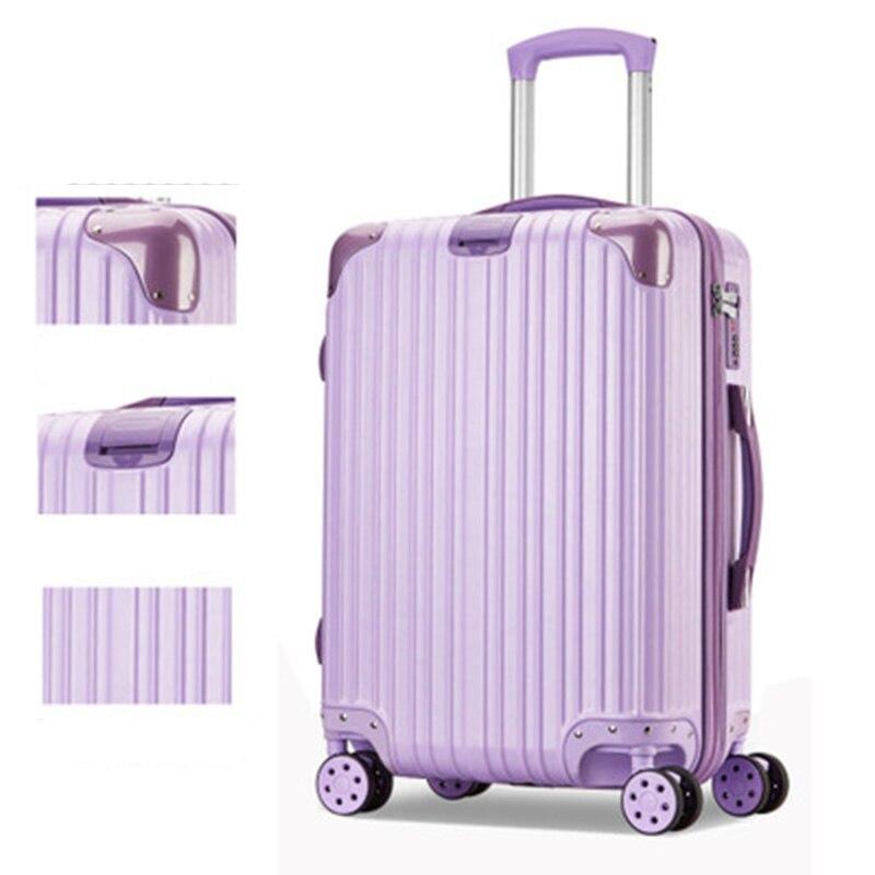 Чехол на колесиках ABS + PC 20 24 чемодан на колесах чемодан леди для мужчин Дорожный чемодан студент взрослых портативный кейс пароль чемодан