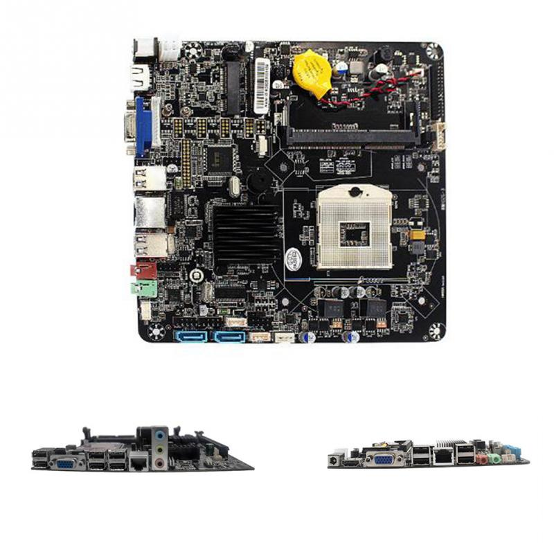 Mainboard SATA Office Computer Accessories HTPC Motherboard HM55 Chipset M.2 SSD Advertising Machine Mini Wide Use For I5 PGA988
