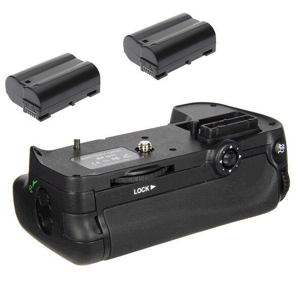 Mb-d11 Аккумулятор ручка + 2x EN-EL15 Полное Декодирование Батареи для Nikon D7000 Цифровые ЗЕРКАЛЬНЫЕ ФОТОКАМЕРЫ.