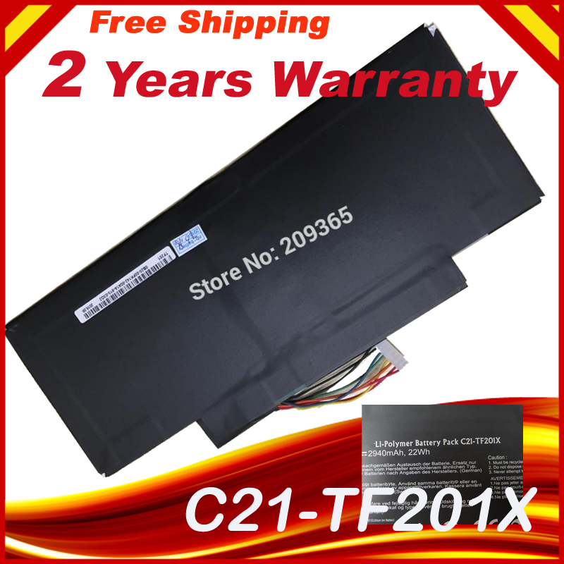 Battery 7.5V 22WH for Asus EeePad TF201 C21-TF201X TF300 LAptop battery bateria akku