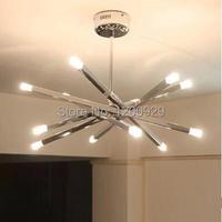 Бесплатная доставка 12 лампа держатели современной хромированной Род звезда подвесной светильник потолочный висит люстра PLL 226