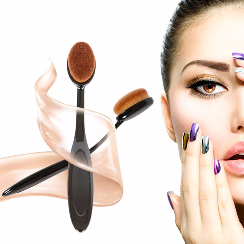 Pro Face Oval Makeup Brushes Foundation BB Cream Flawless Base Powder Puff Blusher Cosmetic Toothbrush Shaped Cleaning Beauty new arrive makeup brush face powder blusher toothbrush foundation oval brushes cosmetic tool