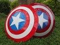 Frete grátis Os Vingadores 2 Capitão América Escudo 1:1 1/1 Cosplay capitão américa Steve Rogers ABS modelo adulto escudo réplica