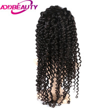 Addbeauty Brazilian Deep Curly Wave Virgin Hair Full Lace Human Hair Wigs Baby Hair 150% Density Hand Tied For Black Women