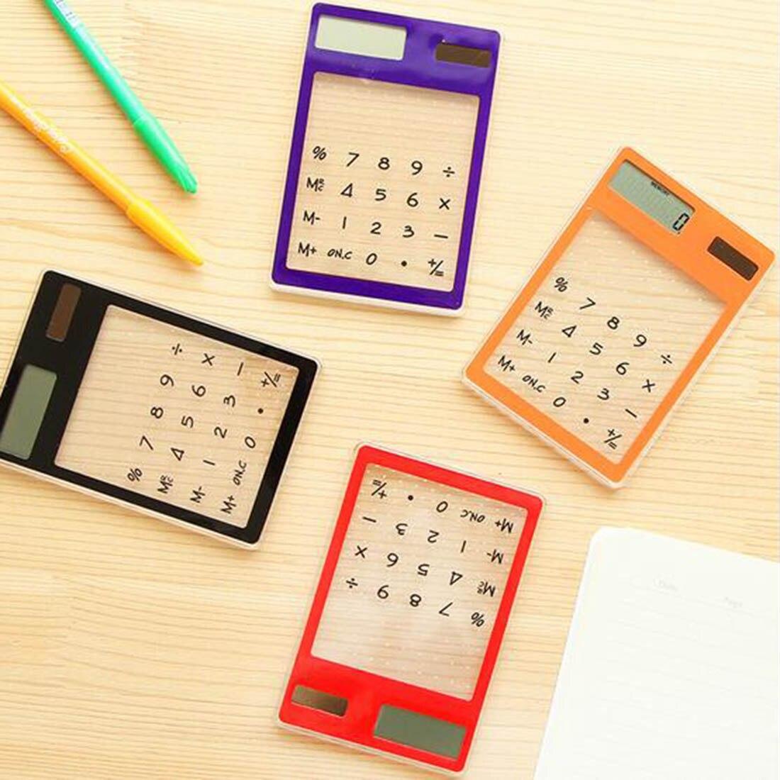 Солнечный калькулятор творческий канцелярские конфеты солнечной энергии сенсорный ясно научный калькулятор школьные офис экзамен постав...