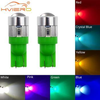 цена на T10 W5W 194 Xenon White Blue Red Car LED 6SMD 5630 Bulbs Backup Lights Turn Signal Light Side Marker Light Reverse Parking Light