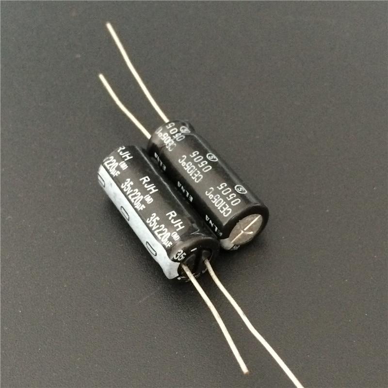 20pcs Nichicon HE  35V220uF Low Impdance Capacitor 220uF 35V 8x15mm