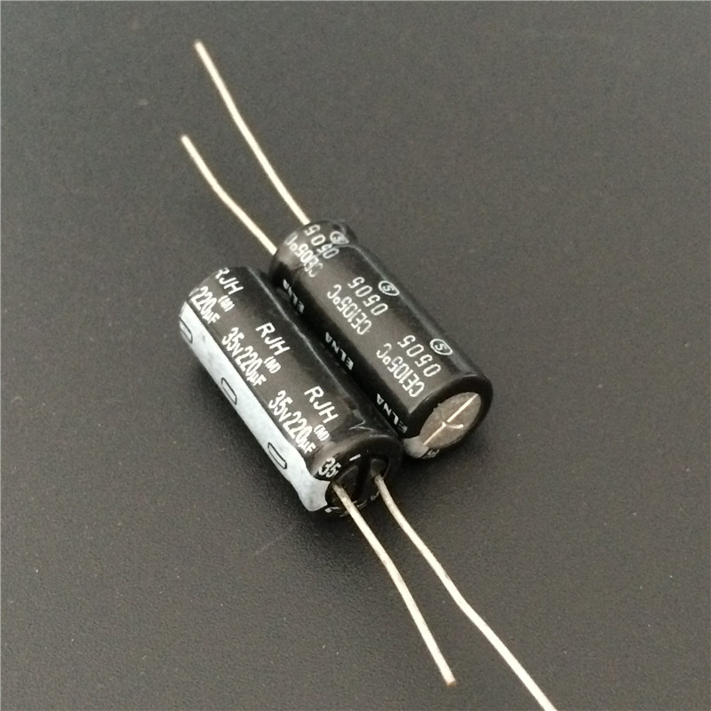 10pcs 220uF 35V ELNA RJH Series 8x20mm Extra Low Impedance 35V220uF Audio Capacitor