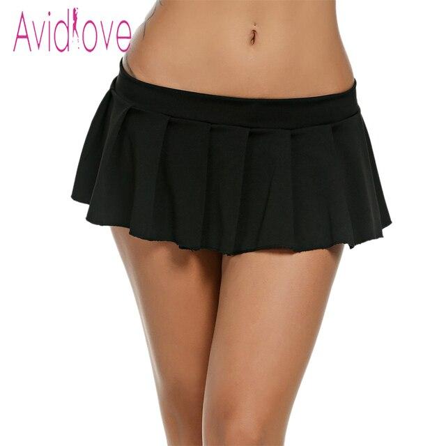 f4de30a92ca962 € 7.13 35% de réduction|Avidlove Femmes Sexy Mini Jupes décontracté  Écolière Nuit Micro Jupe D'été Sexy Jupes Courtes Noir Blanc Rose Bleu ...