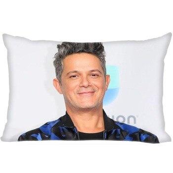 Funda de almohada de tela satinada con cremallera rectangular, suave y brillante,...