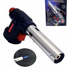 Quemar gas butano antorcha lanzallamas al aire libre cámara de combustión de encendido automático de soldadura bbq
