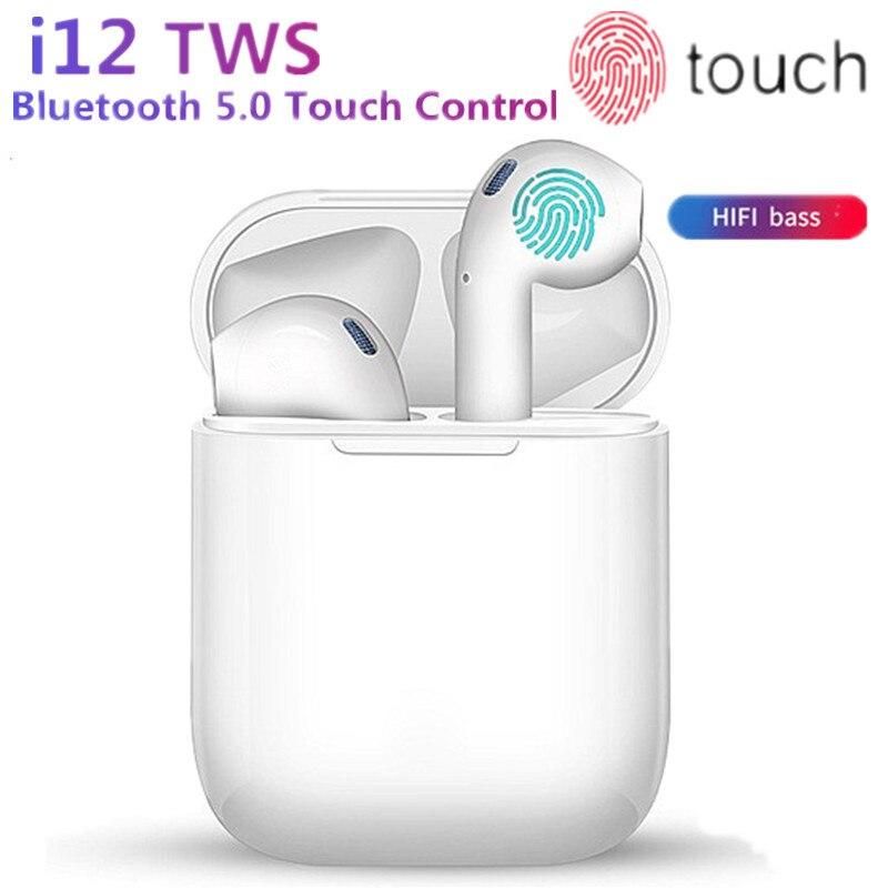 New i12 TWS Mini Wireless earphone Bluetooth 5 0 bass earphones Touch control Earbuds Sports Music