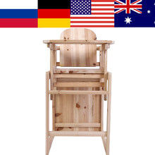 Baby Feeding Chair & Table Set Solid Wooden Detachable Highchair with Adjustable Tray(China)