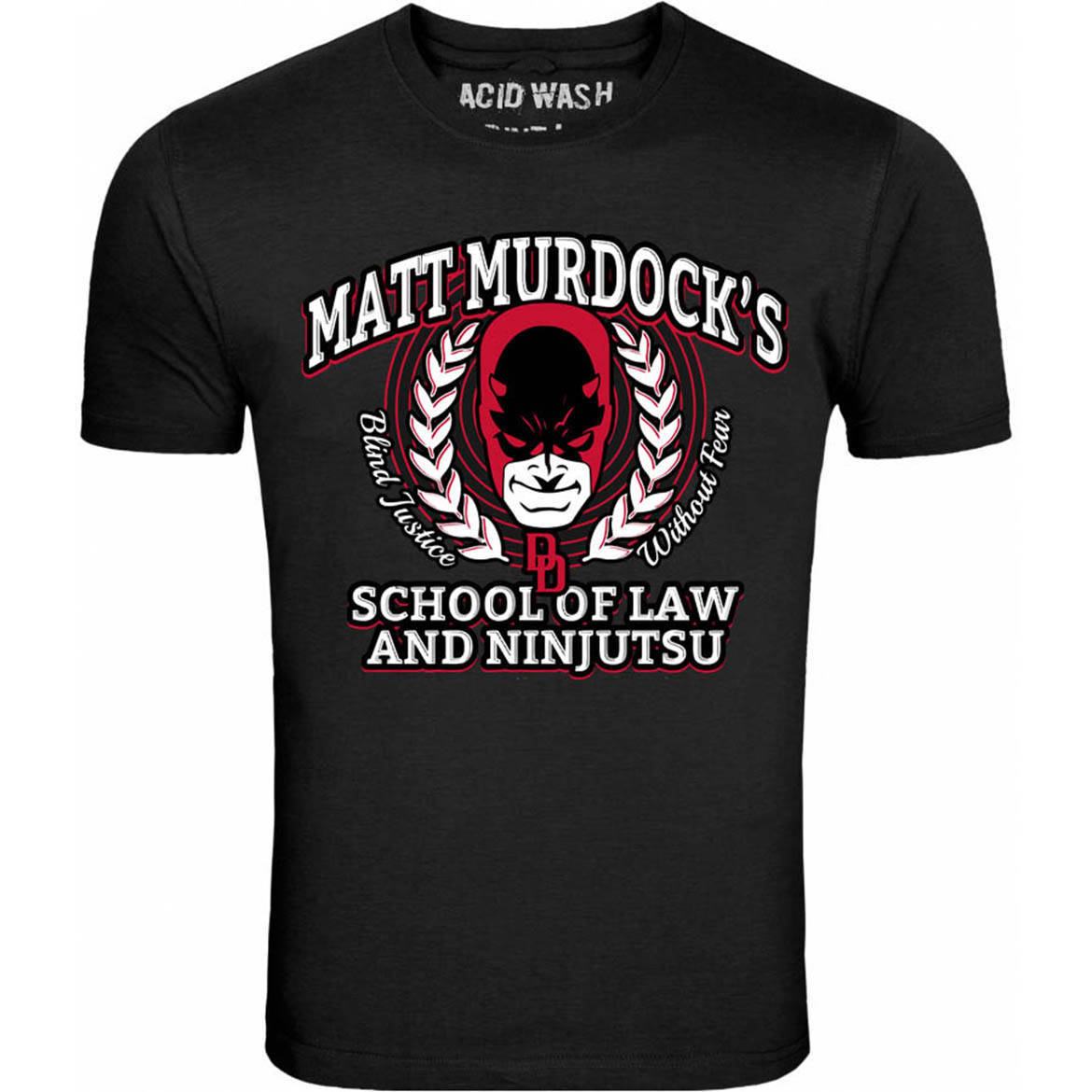DARE DEVIL SCHOOL OF LAW AND NINJUTSU FREE UK POSTAGE UNISEX T SHIRT 2018 Brand T-Shirt Men Fashion Simple Style Top Tee image