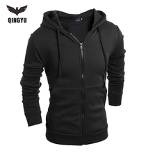 Hot 2017 New Arrival Casual Men Winter Hoodies Male Hoodie Sweatshirts High Quality zipper Slim Hooded Brands Men's Coat XXL YJ