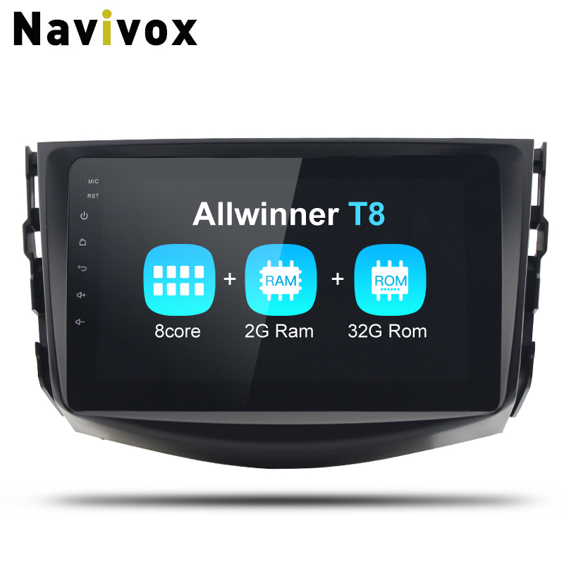 Navivox 2 Din Android 8.1.0 car multimedia player Radio GPS Stereo Audio Player car dvd for toyota rav 4 Eight Core (no dvd) 2711p t10c6a2 touch panel for allen bradley 2711p t10 repair replacement plus 1000 touch screen all versions fast shipping