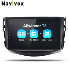 Navivox 2 Din Android 8.1.0 car multimedia player Radio GPS Stereo Audio Player car dvd for toyota rav 4  Eight Core (no dvd)